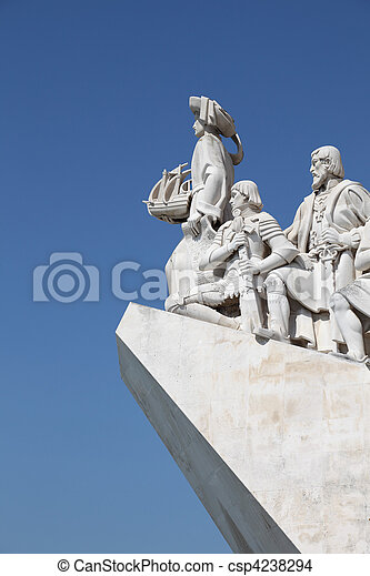 Monument to the Discoveries in Lisbon, Portugal - csp4238294