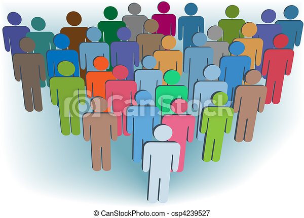 Group company or population symbol people colors - csp4239527