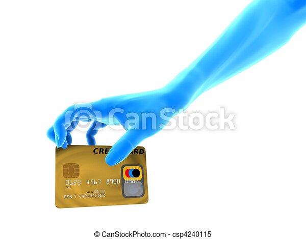 grabbing creditcard - csp4240115