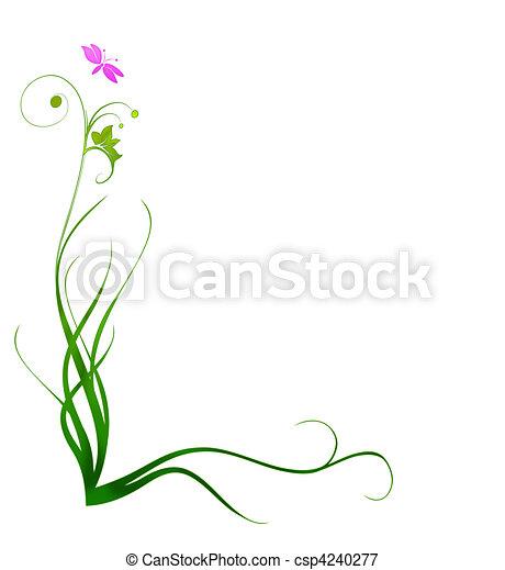 Decorative Grass Border - csp4240277