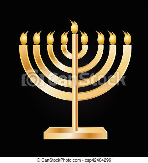 Menorah symbol icon - csp42404296