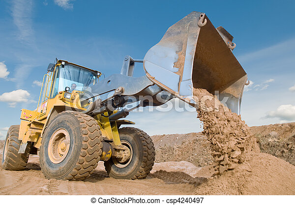 wheel loader excavation working - csp4240497