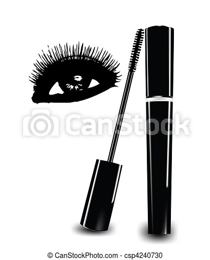 Ink for eyelashes and eye. Vector - csp4240730