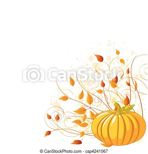 Autumn Pumpkin - csp4241067