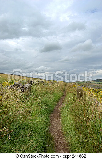 Countryside path Derbyshire - csp4241862