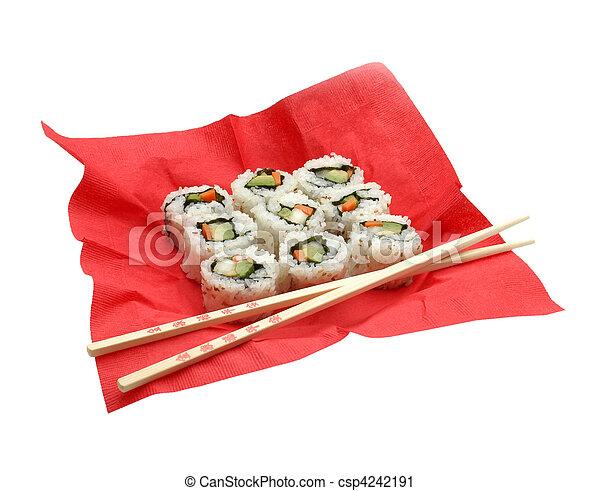 veggie sushi  - csp4242191