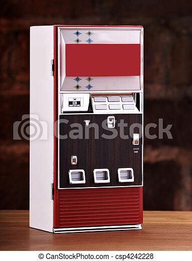 Vintage toy soda machine  - csp4242228