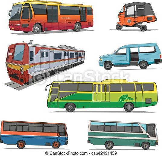 City transportation vector - csp42431459