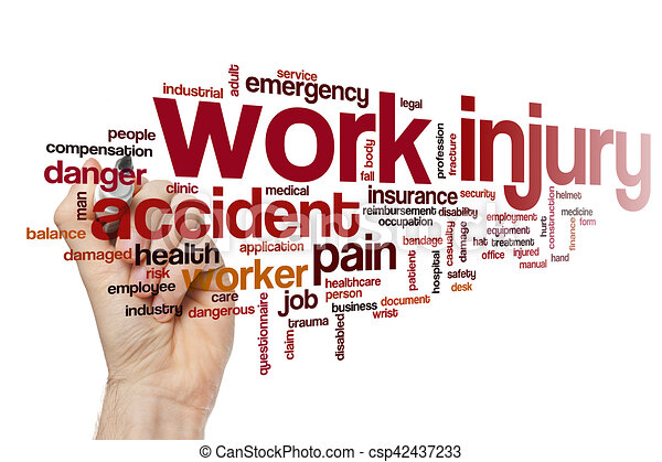 Stock Illustrations Of 3D Man And Work Injury Compensation Claim