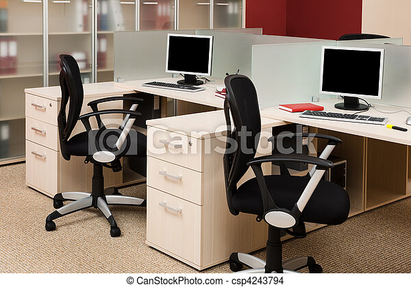 moderne, bureau - csp4243794