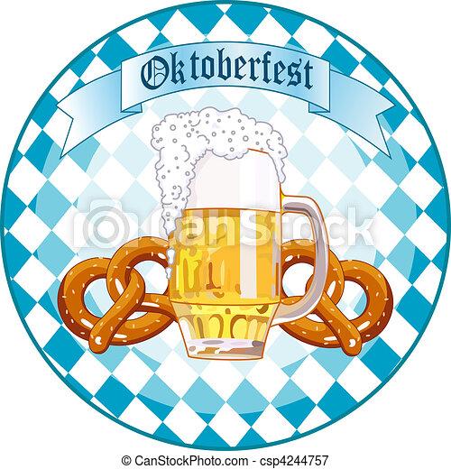Oktoberfest Celebration round desi - csp4244757