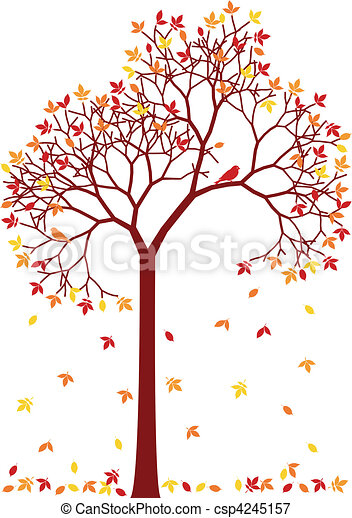 colorful autumn tree - csp4245157
