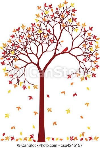 colorful autumn tree - csp4245157