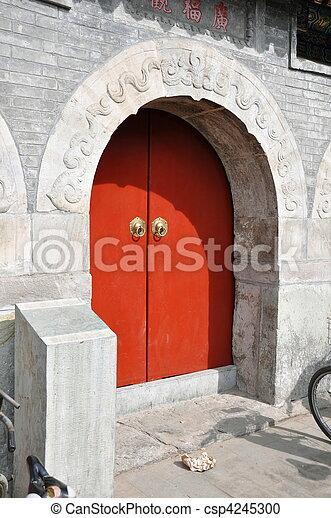 Hutong Door - csp4245300