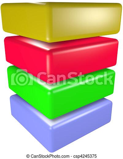 Data storage ,cube 3D technology symbol stack - csp4245375