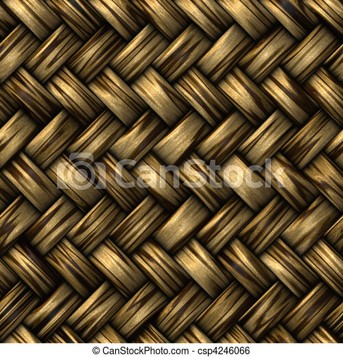 wicker basket weave - csp4246066