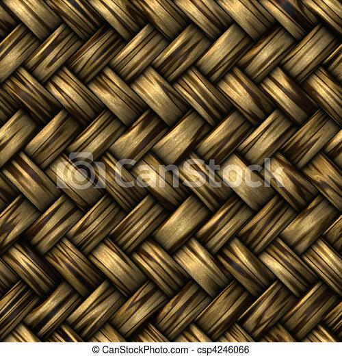 wicker basket weave - csp4246066