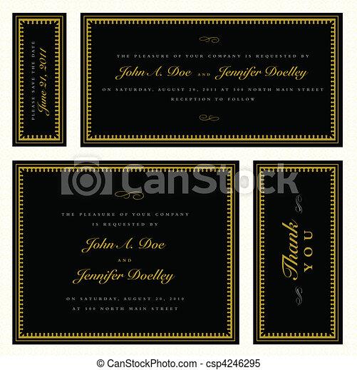 Vector Gold Formal Frame Set - csp4246295