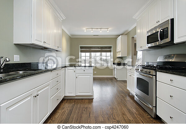 Kitchen in remodeled home - csp4247060