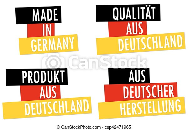 collection seals Made in Germany - csp42471965