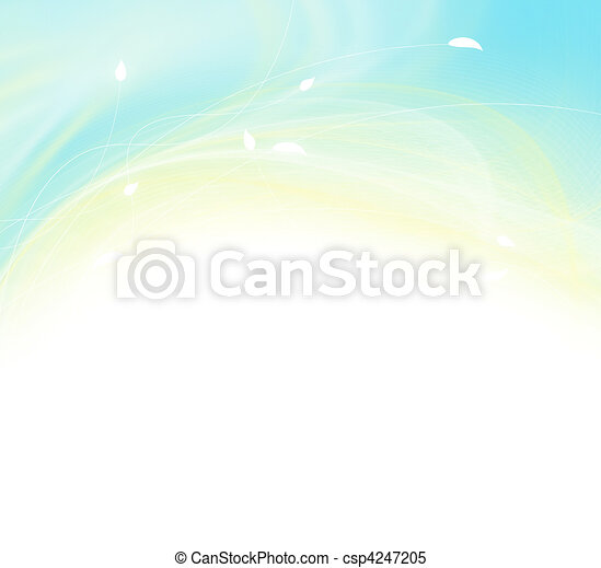 Abstract modern floral background - csp4247205