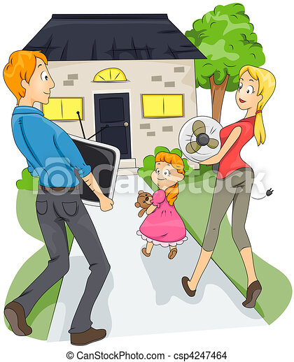 Family Moving - csp4247464