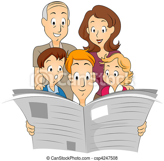 Family Newspaper - csp4247508