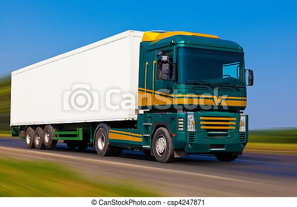 Freight truck - csp4247871