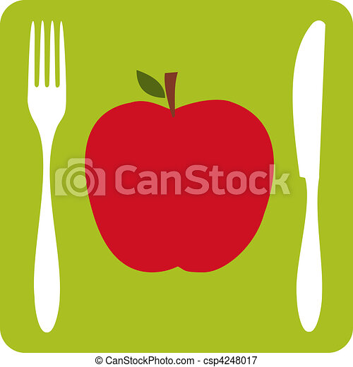 Vegetarian restaurant icon. - csp4248017