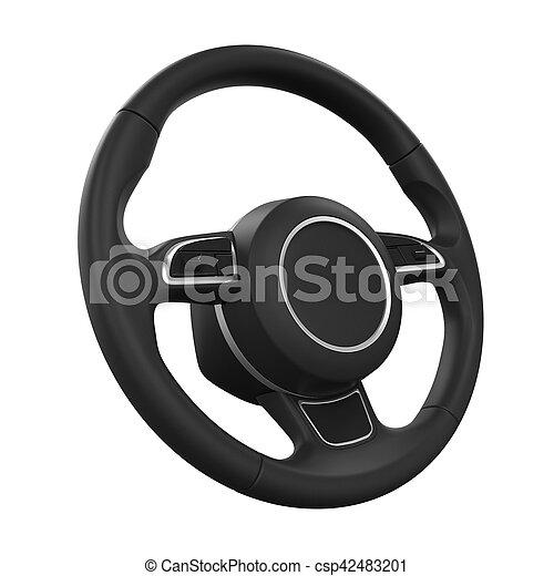 Steering Wheel Isolated - csp42483201