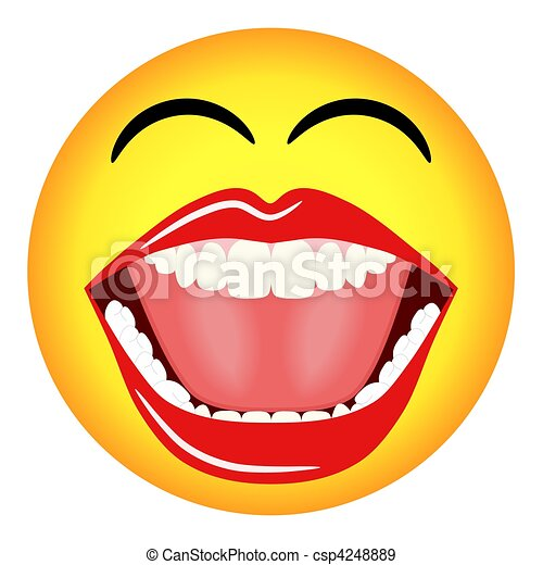 Laughing Smiley Emoticon  - csp4248889
