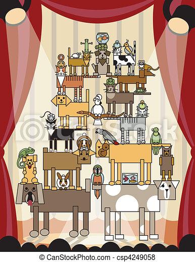 Acrobatic Pets - csp4249058