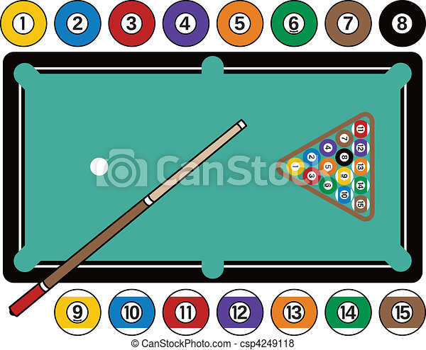 Billiards Table and Equipment - csp4249118