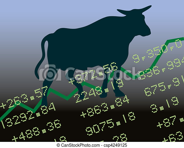 Bull Market in the Black - csp4249125