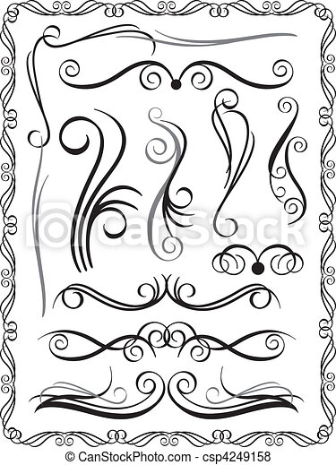 Decorative Borders Set 1 - csp4249158