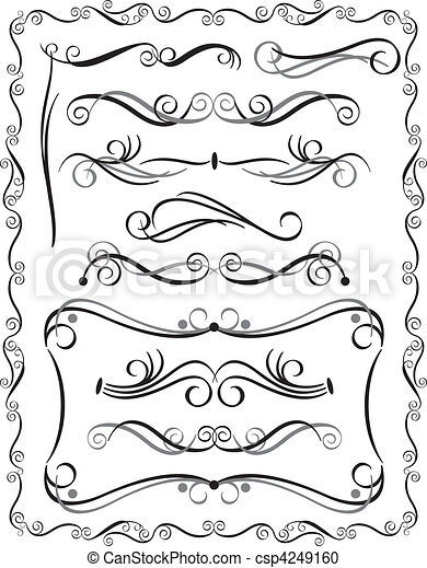 Decorative Borders Set 3 - csp4249160