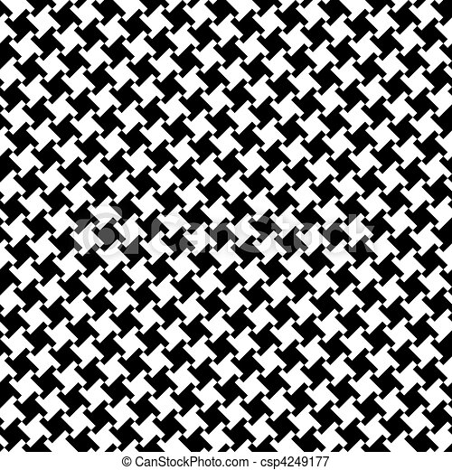 Different Houndstooth_Black-White - csp4249177