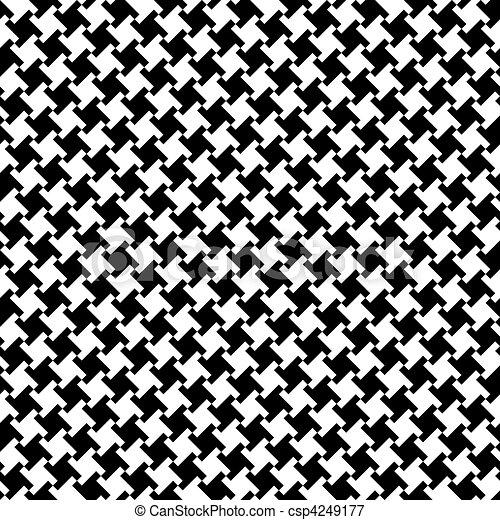 Different Houndstooth_Black-White - csp4249177