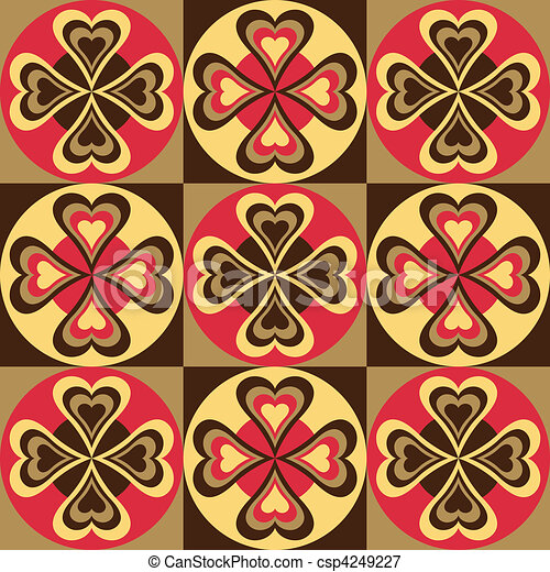 Folk Hearts_Red-Black - csp4249227