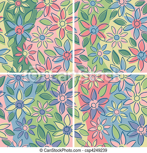 Free-Form Floral_Spring - csp4249239