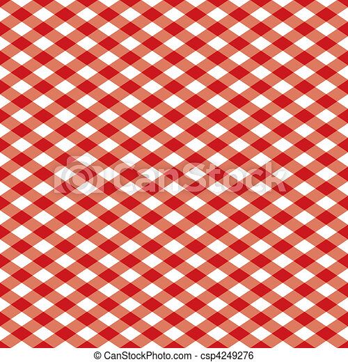 Gingham Pattern_Red - csp4249276