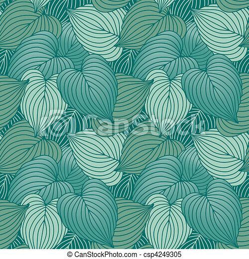 Hosta Leaf Pattern_Blue - csp4249305