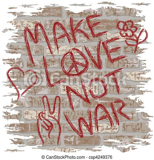 Make Love Not War - csp4249376