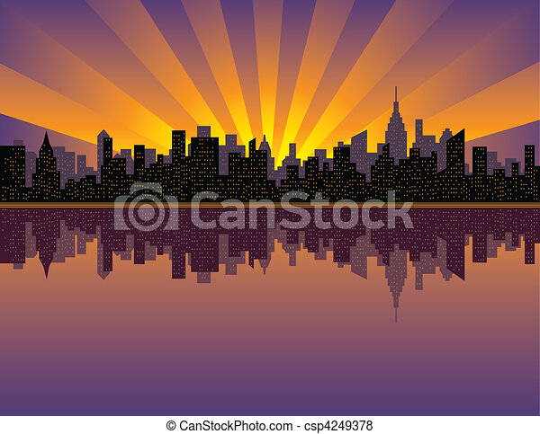 Manhattan Sunset - csp4249378