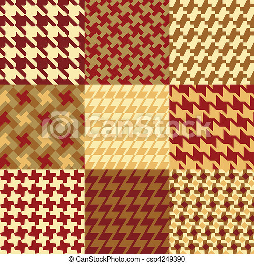 Nine Houndstooth Patterns - csp4249390