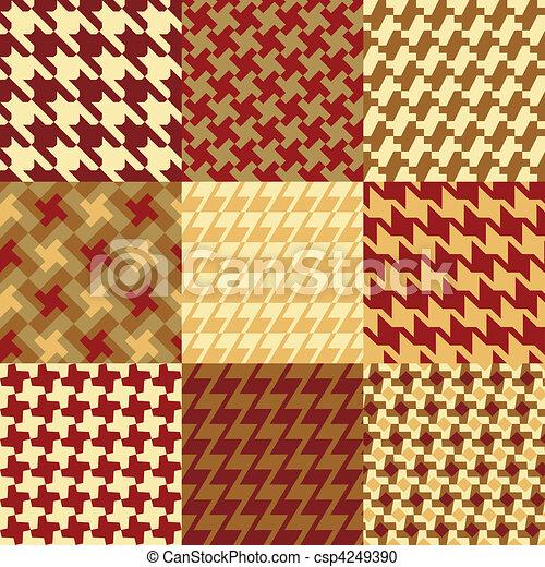 Nine Houndstooth Patterns - csp4249390