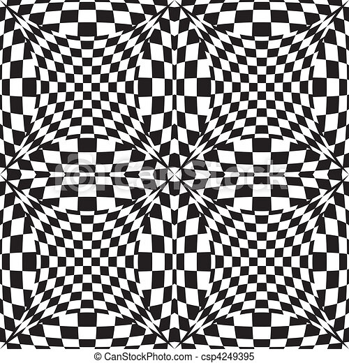 Op Art Background  - csp4249395