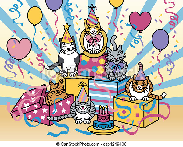 Party Cats - csp4249406
