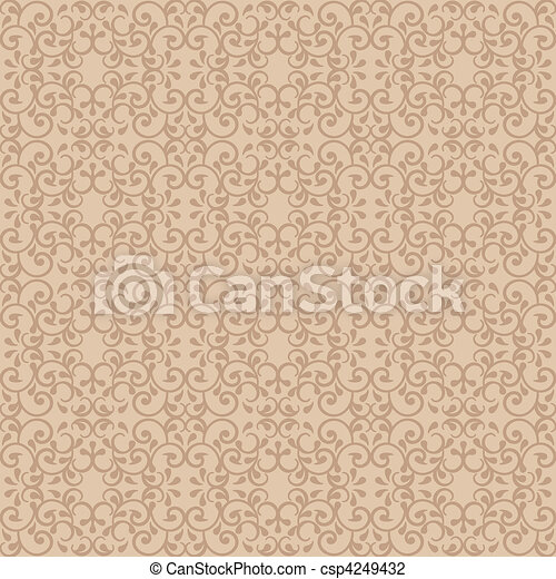 Posh Pattern in Beige - csp4249432