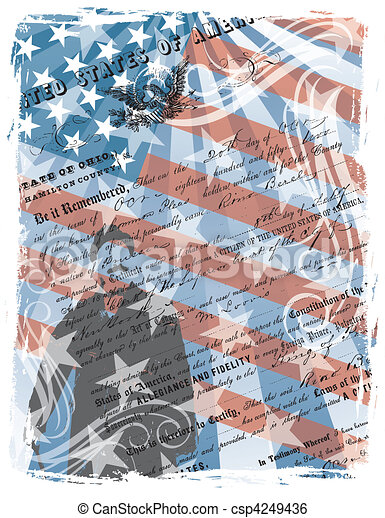 Proud American Citizen - csp4249436